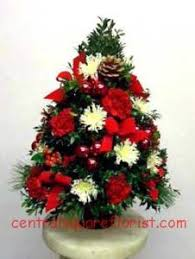 ... Holiday Tree Centerpiece Christmas Flower Arrangment .
