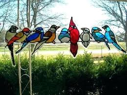stain glass birds ass on a wire stained bird pattern patterns of paradise window art bath designs patt