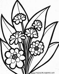 Flowers And Plants Coloring Pages For Kids Printable Coloring Page