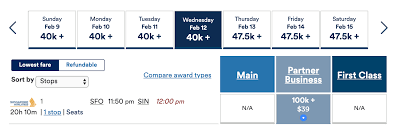 Sia Redemption Chart How To Book Singapore Airlines Awards Using Alaska Miles