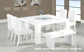 white glass dining table modern round glass table w white chairs