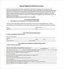 Rental References Form Sample Rental Reference Form 8 Download Free Documents In Pdf Word
