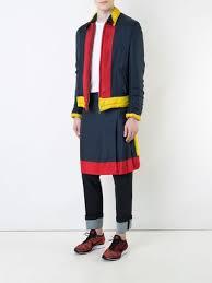 comme des garçons vintage colour block zip jacket and skirt