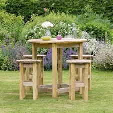 bahama large round table 4 stool garden furniture set zoom image