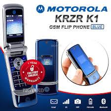motorola krzr. original unlocked motorola krzr k1 blue gsm 2g bluetooth camera mp3 flip phone (1 year warranty) motorola krzr