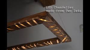 how to make an led chandelier with visualizer out of 2x4s two2x4challenge