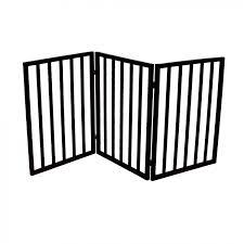 dog safety folding wooden pet gate portable indoor barrier