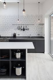 lighting kitchens. View In Gallery Simplicity Of Lighting And Pattern The Backsplash Hold Your Attention This Scandinavian Kitchen Kitchens E
