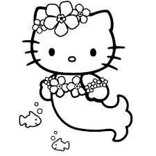 Small Picture Hello Kitty Mermaid Coloring Pages to Invigorate to color page