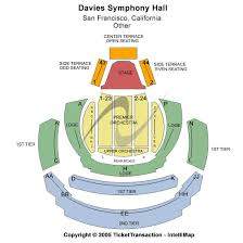 Davies Symphony Hall Seating Chart Davies Symphony Hall