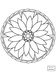 Easy Mandala Coloring Pages Free Coloring Pages For Children With