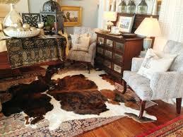 fake cowhide rug living room hide area rugs cattle cow inside enjoyable white fake cowhide rug