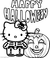 Coloring hello kitty halloween coloring book page prismacolor colored pencil | kimmi the clown. Happy Halloween Coloring Pages Coloringall
