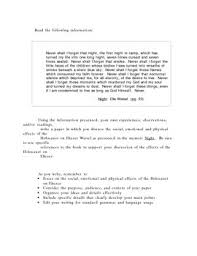 cause and effect essay on the holocaust essay on the holocaust holocaust cause effect essay