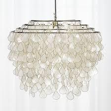 cb2 lighting. Teardrops-capiz-chandelier-from-cb2 Cb2 Lighting O