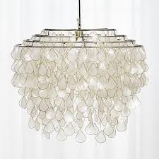 teardrops capiz chandelier from cb2