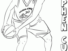 Stephen Curry Coloring Pages Chris Paul Coloring Page Free Printable