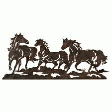 western metal art wall hangings with western metal wall art silhouettes photo 2 of 20