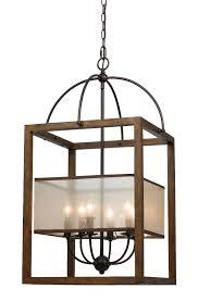 iron wood chandelier 6 lights 19 wx33 h