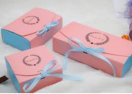 Decorating Boxes With Paper bi color paper gift cake packaging boxes wholesale ribbon decorate 75