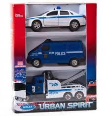 Игровой набор <b>Welly Полиция разноцветный</b> 3 шт 996103A ...