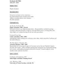 Cabin Crew Resume Sample With No Experience Resume Format For