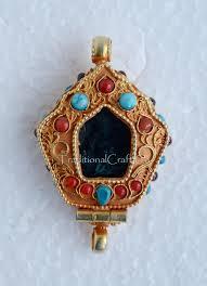 fine quality tibetan ritual buddhist sacred silver ghau gau prayer box pendant from patan nepal