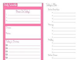 Template 24 Hour Daily Planner Template Every Day Work Schedule