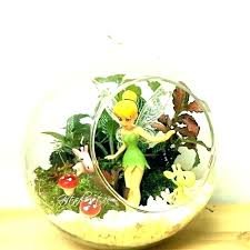s onle row plants in glass bowl large
