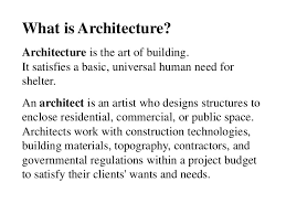 Architecture is the art of how to waste space