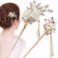 Details about Women Elegant Wedding Gift Hair Pin Colorful Hairpin ...