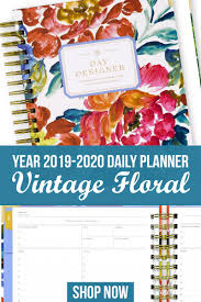 Day Designer Academic 2019 I Love This Academic Year 2019 2020 Planner With Vintage