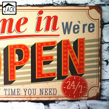 open house signs home depot. We Are Open Signs Come In Were Anytime You Need 7 Vintage Tin Plate Metal . House Home Depot R
