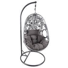 hanging chair. GLWFSW06-Bentley-Garden-Grey-Patterned-Rattan-Hanging-Chair- Hanging Chair