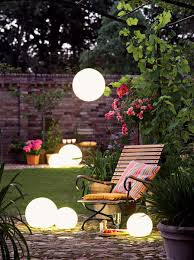 outdoor solar lighting ideas. Solar Glowing Globes Outdoor Lighting Ideas O