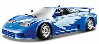 Bugatti eb 110, dunkelblau, heckspoiler oben, 1:18, bburago. Bburago Bugatti Eb 110 Blue 1 24 Diecast Car New In Box 18 22025bl Cars Trucks Vans Contemporary Manufacture