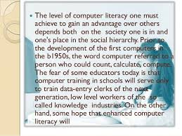 computer literacy essay  computer literacy essays and papers