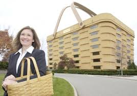longaberger home office. Tami Longaberger, CEO Of Longaberger Co., Stands In Front The Corporate Offices, Which Are A Building Shaped Liked Basket, Newark, Ohio, Home Office
