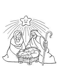 Kerst Kleurplaten Josef Maria En Kindje Jesus In De Kribbe Kerst