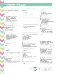 birth plan suggestions printables birth plan worksheet mywcct thousands of printable