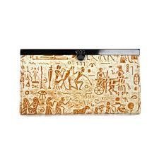 Coach Egyptian Wall Painting Large Khaki Wallets EDY