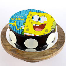 Spongebob Chocolate Truffle Photo Cake 2 Kg Gift Spongebob