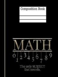 Buy Math The Only Subject That Counts Composition Notebook 4x4