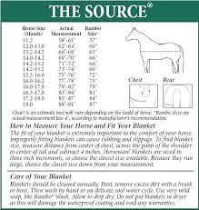 Horse Blanket Chart Zionak Org