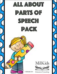 My Mini Anchor Chart Free Parts Of Speech And Grammar Mini Anchor Charts