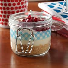 cran orange pie in a jar