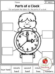 The parts of a clock no prep activity. Great way to introduce ...