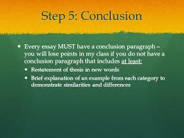 how to write the compare and contrast essay ppt  26 step 5 conclusion every essay