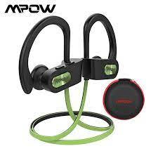 Mpow alev Bluetooth kulaklık su geçirmez HiFi Stereo spor kulaklık kablosuz  kulaklıklar mikrofon ile EVA durumda iPhone X/8/7|sport earphone|hook  earphoneearphones for iphone - AliExpress