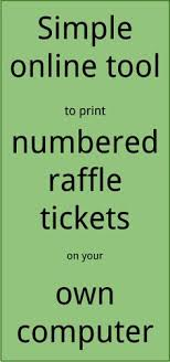 free ticket creator raffle ticket creator print raffle tickets on your own computer